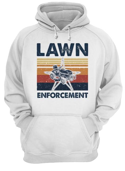 Lawn enforcement vintage  Unisex Hoodie