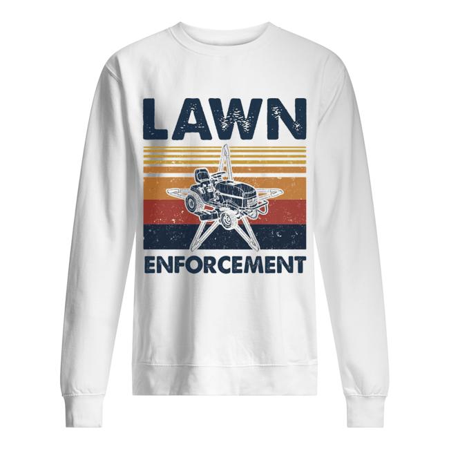 Lawn enforcement vintage  Unisex Sweatshirt