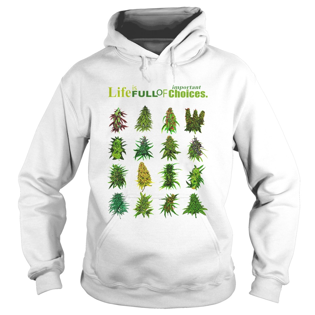 Life Is Full Of Important Choices Weed  Hoodie