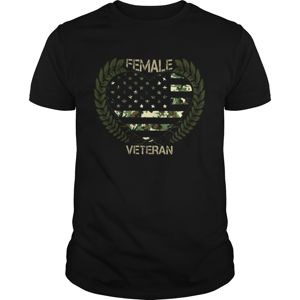 Love Female Veteran Heart  Unisex