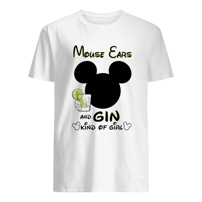 Mickey Mouse Cars And Gin Kind Of Girl  Classic Men's T-shirt