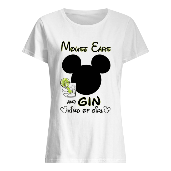 Mickey Mouse Cars And Gin Kind Of Girl  Classic Women's T-shirt
