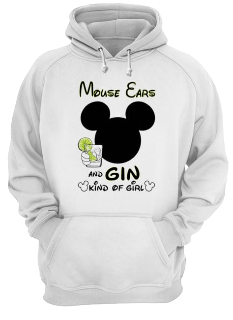 Mickey Mouse Cars And Gin Kind Of Girl  Unisex Hoodie