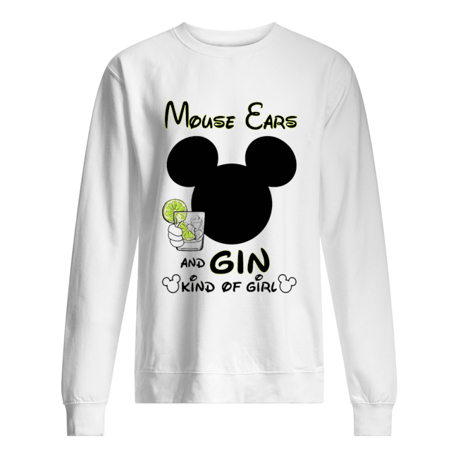 Mickey Mouse Cars And Gin Kind Of Girl  Unisex Sweatshirt
