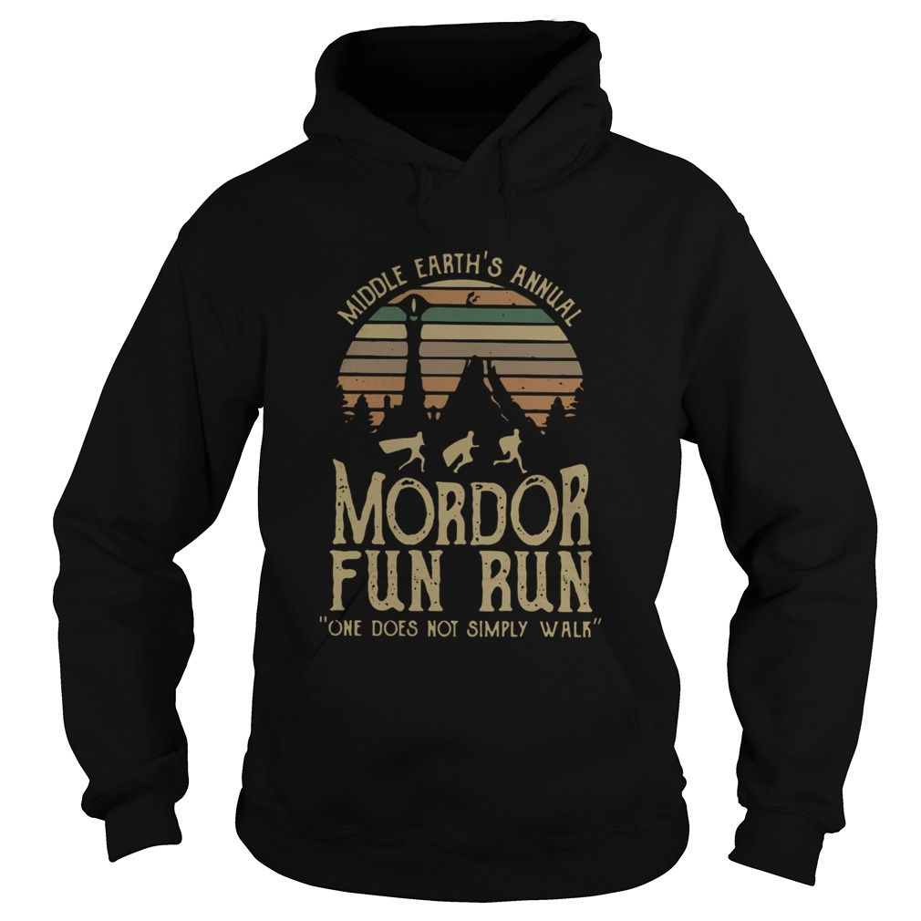 Middle Earths Annual Mordor Fun Run One Does Not Simply Walk Vintage  Hoodie