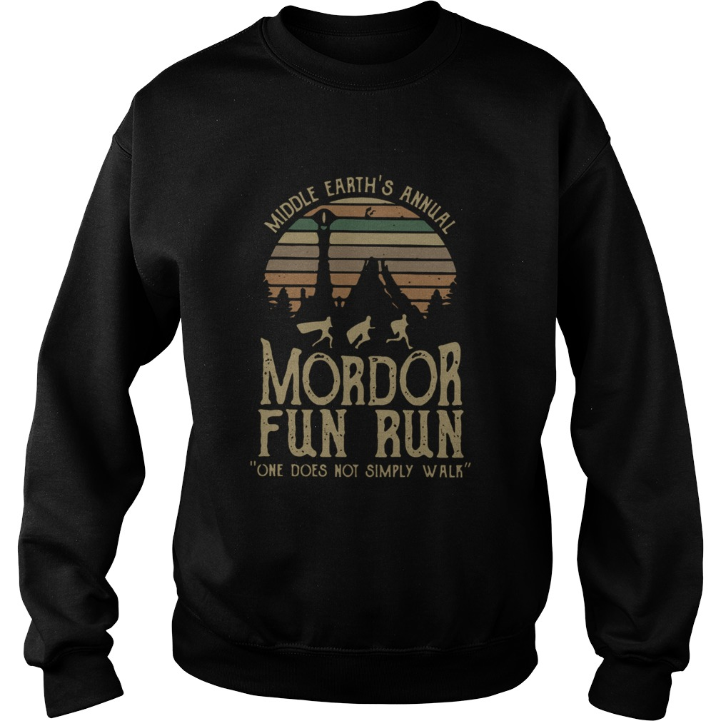 Middle Earths Annual Mordor Fun Run One Does Not Simply Walk Vintage  Sweatshirt