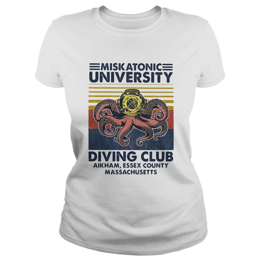 Miskatonic university Scuba diving club aikham essex county vintage  Classic Ladies