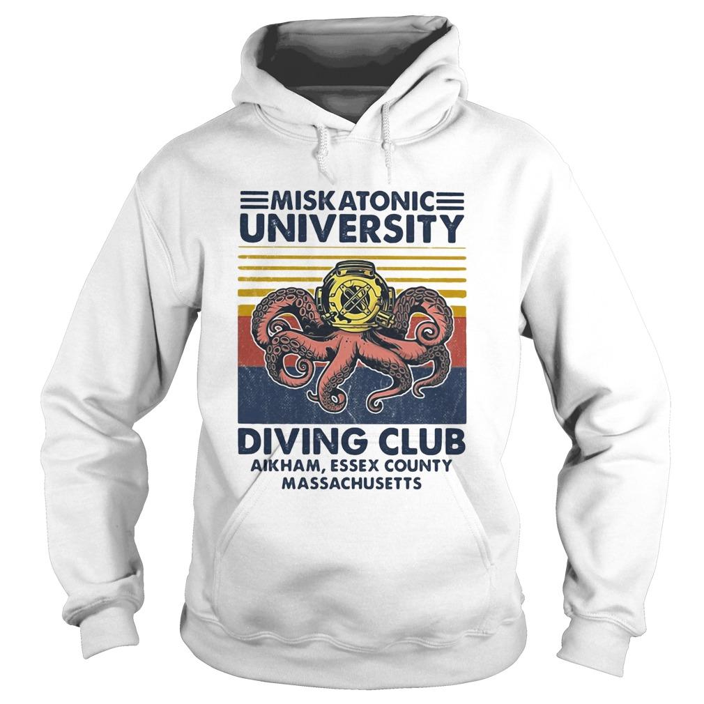 Miskatonic university Scuba diving club aikham essex county vintage  Hoodie