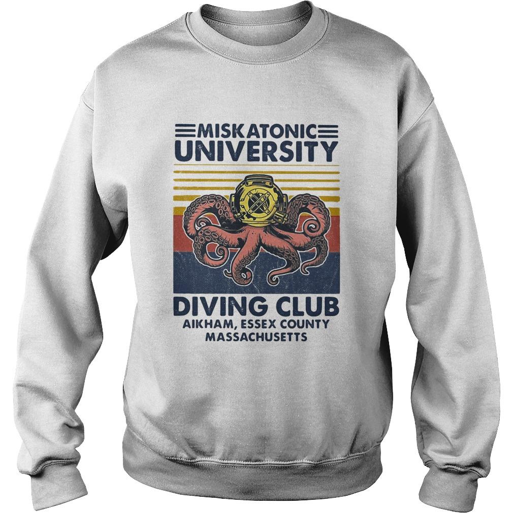 Miskatonic university Scuba diving club aikham essex county vintage  Sweatshirt