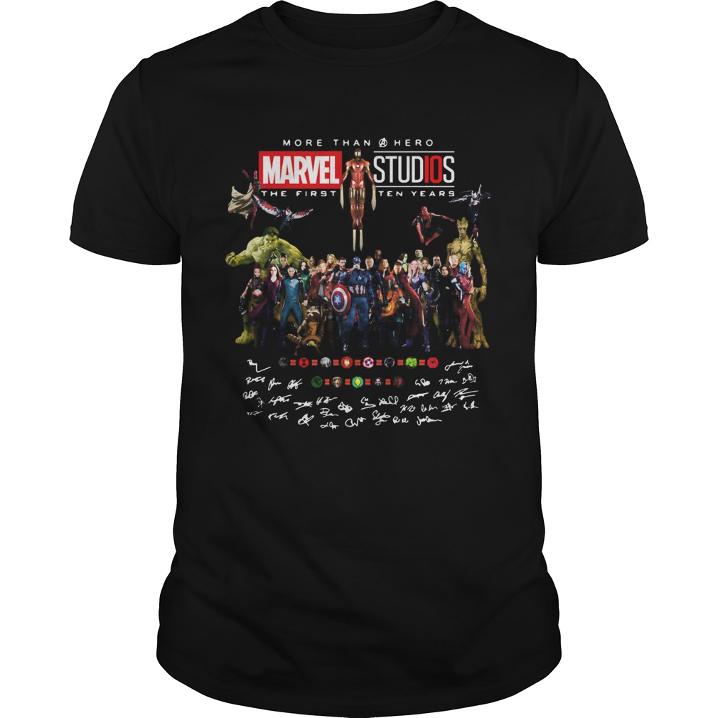More than hero marvel studios the first ten years signatures  Unisex