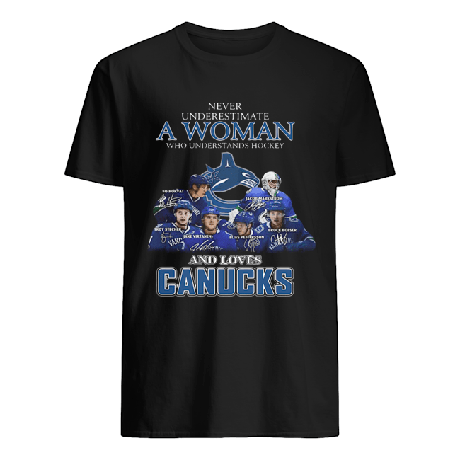 Never Underestimate A Woman Who Understands Hockey And Loves Canucks  Classic Men's T-shirt