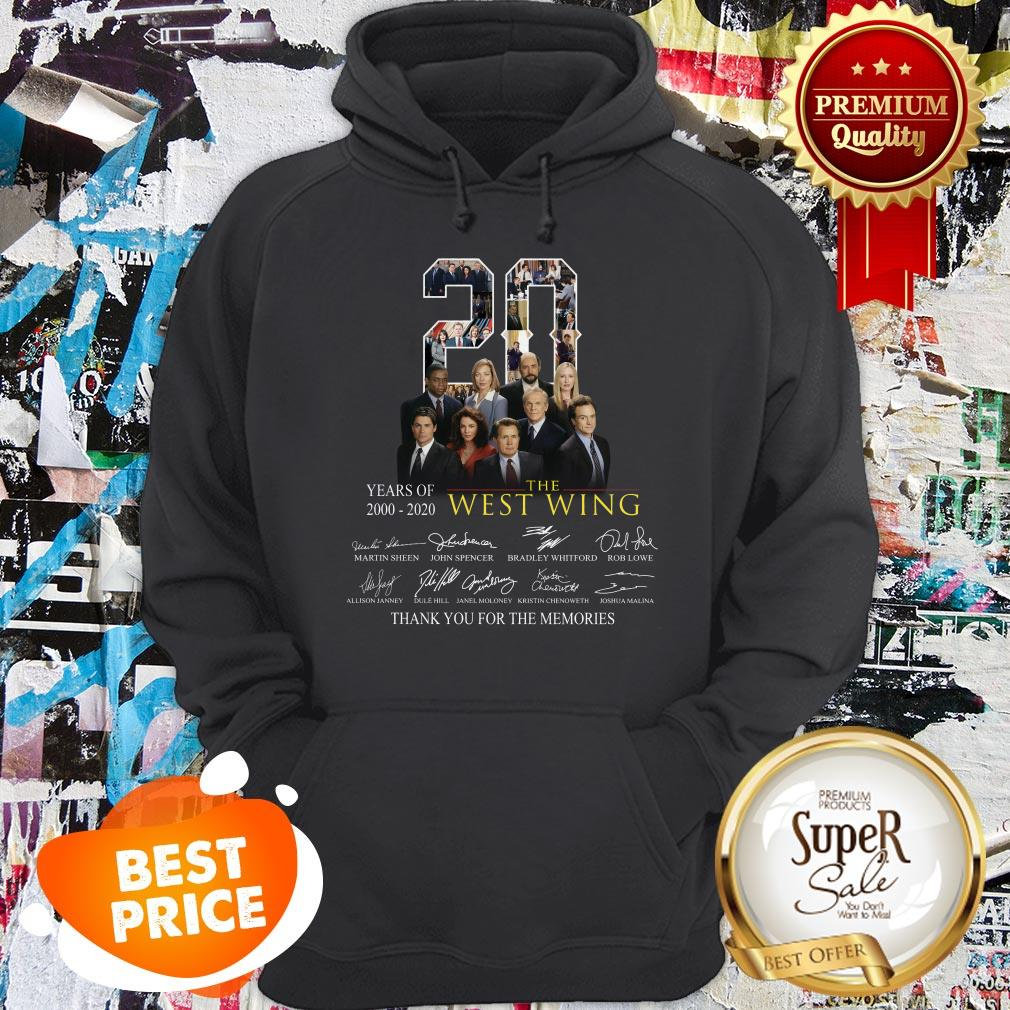 Nice 20 Years Of 2000-2020 The West Wing Signatures Thank You For The Memories Hoodie