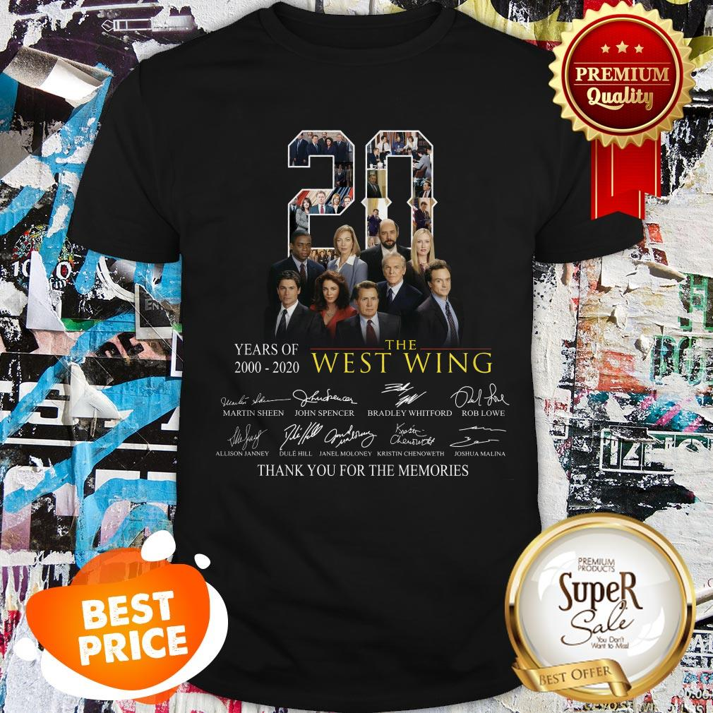 Nice 20 Years Of 2000-2020 The West Wing Signatures Thank You For The Memories Shirt