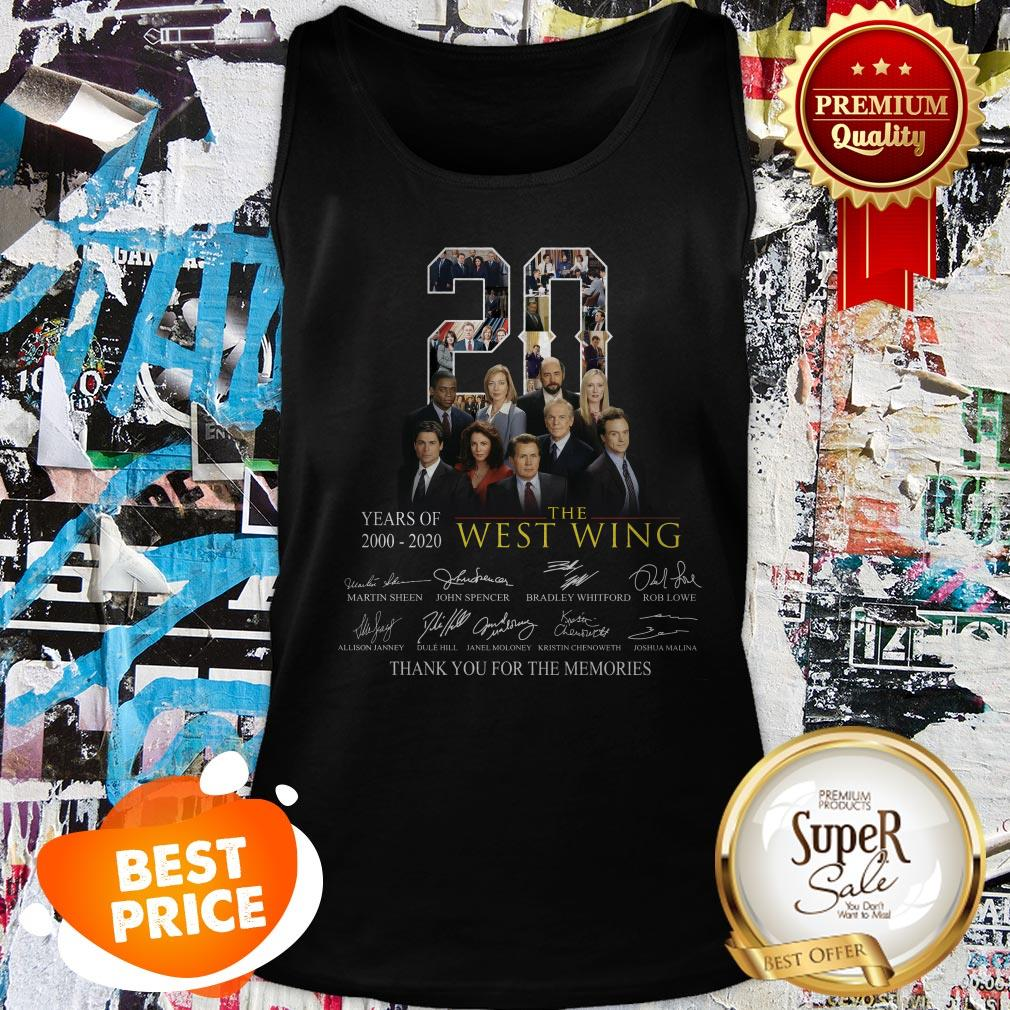 Nice 20 Years Of 2000-2020 The West Wing Signatures Thank You For The Memories Tank Top