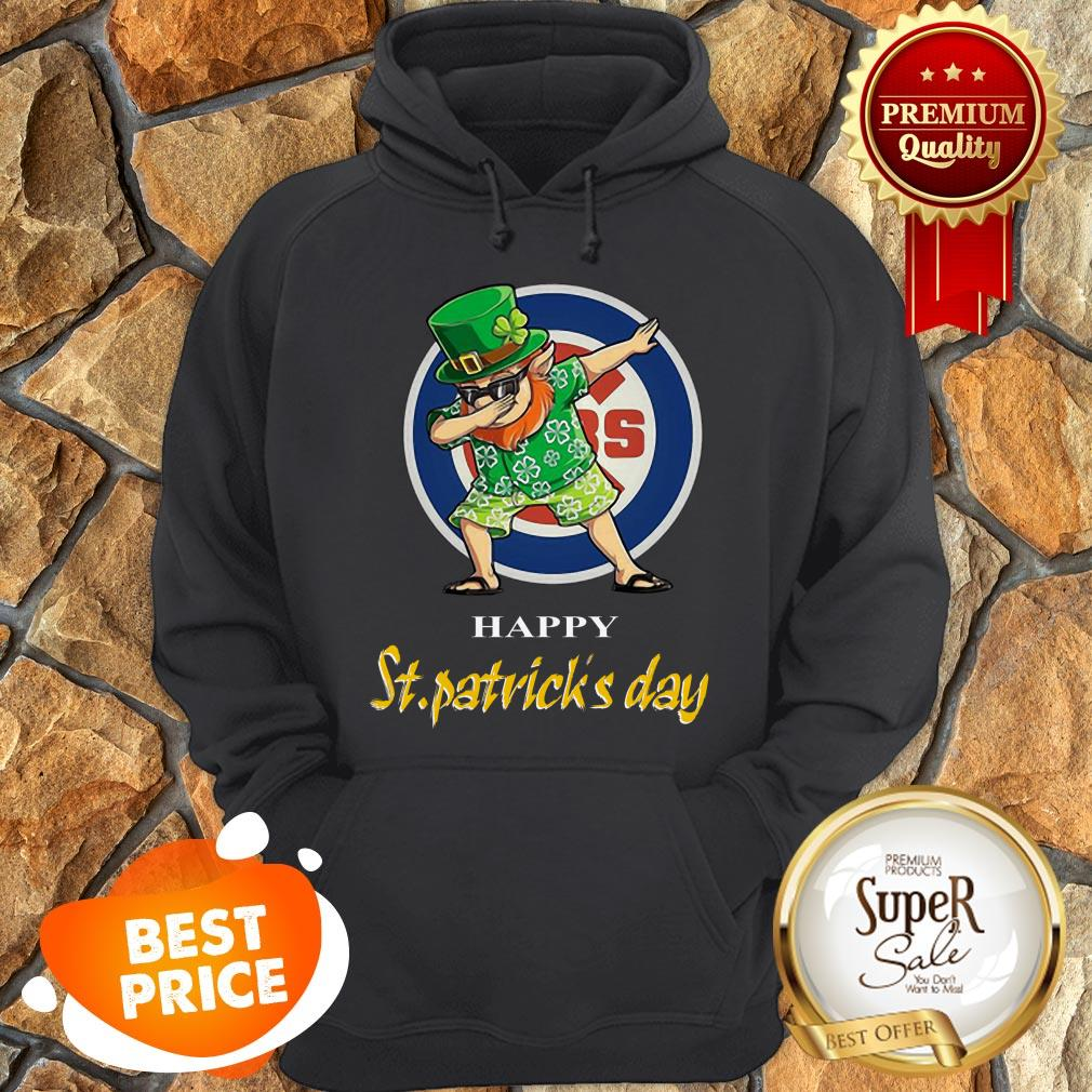 Nice Dabbing Leprechaun Chicago Cubs Happy St. Patrick's Day Hoodie