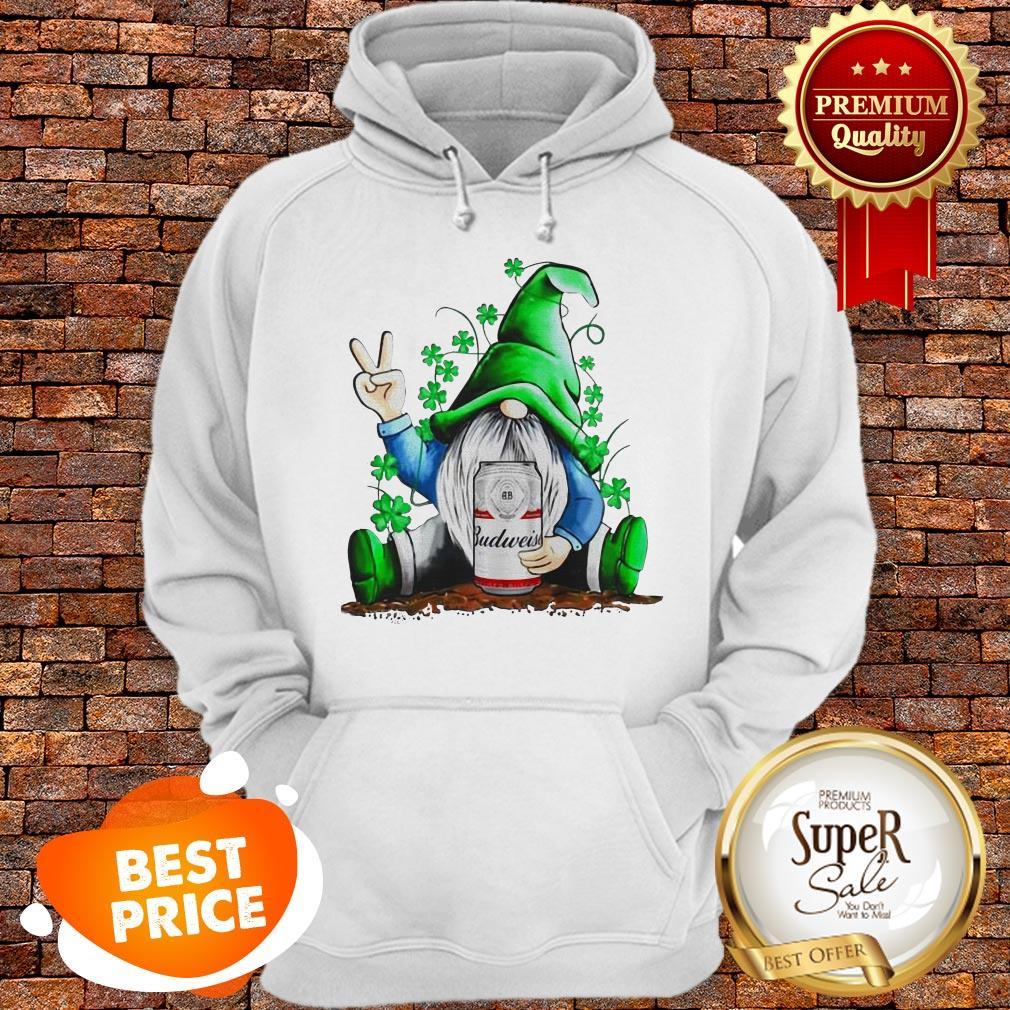 Nice Gnomes Hug Budweiser St. Patrick's Day Hoodie