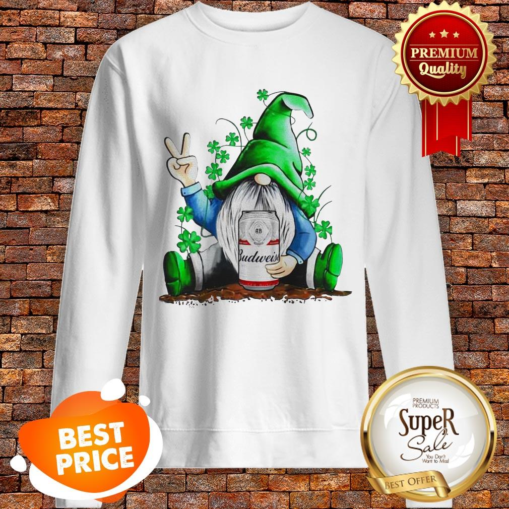 Nice Gnomes Hug Budweiser St. Patrick's Day Sweatshirt