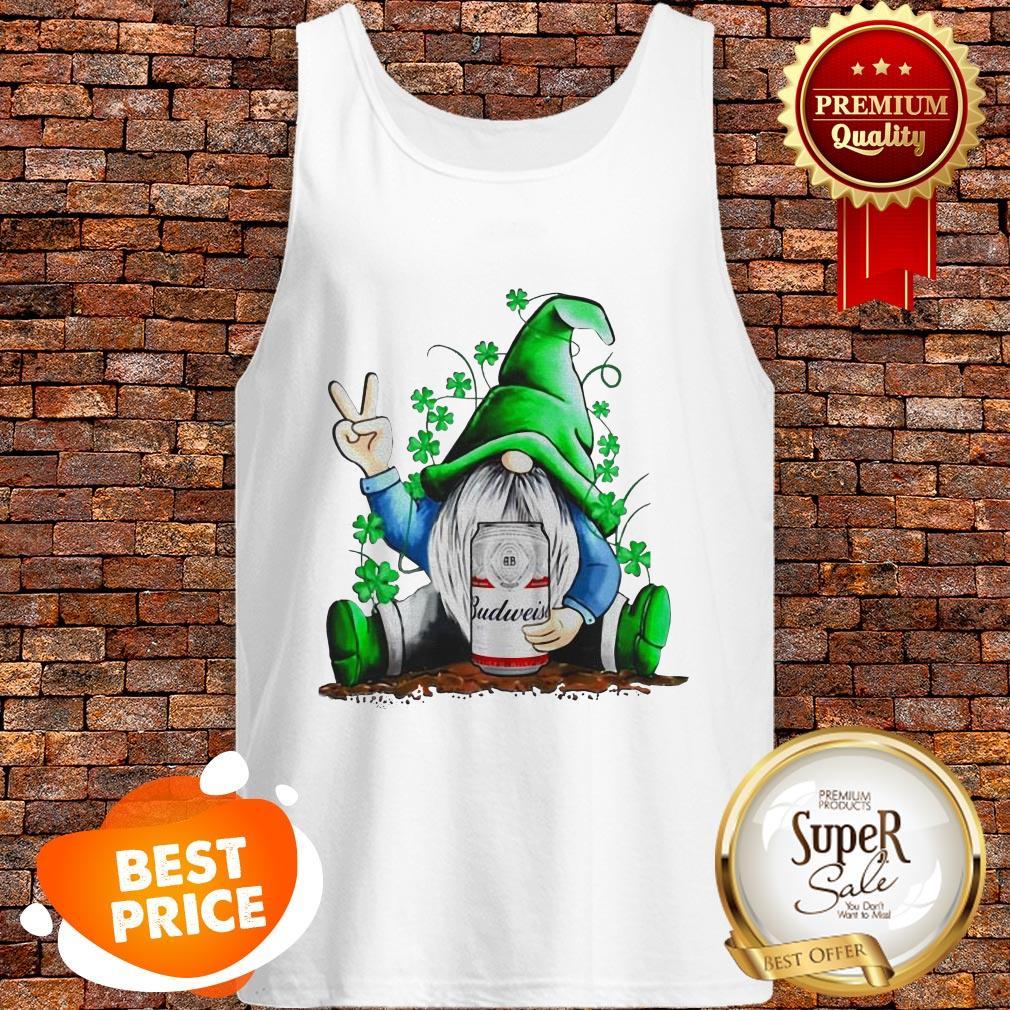 Nice Gnomes Hug Budweiser St. Patrick's Day Tank Top