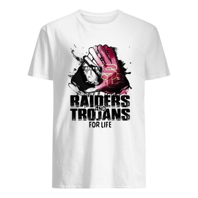Oakland raiders and southern california trojans for life art  Classic Men's T-shirt