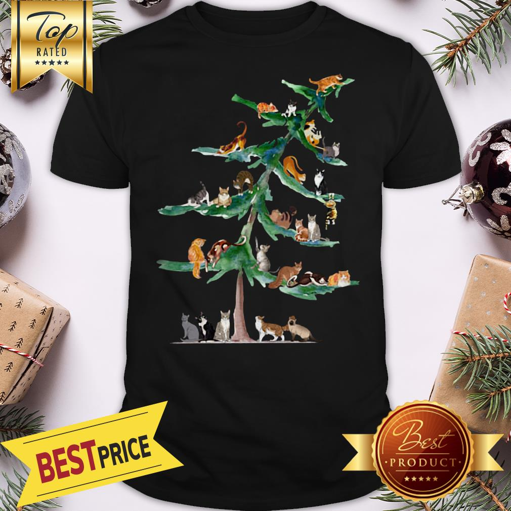 Official Cats Tree Christmas Shirt