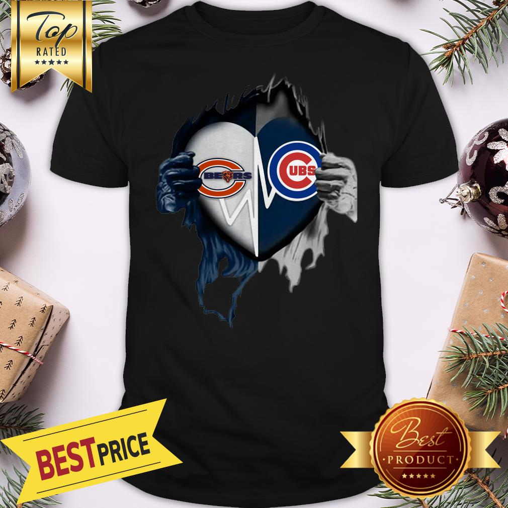 Official Love Chicago Bears And Chicago Cubs Inside Me Shirt