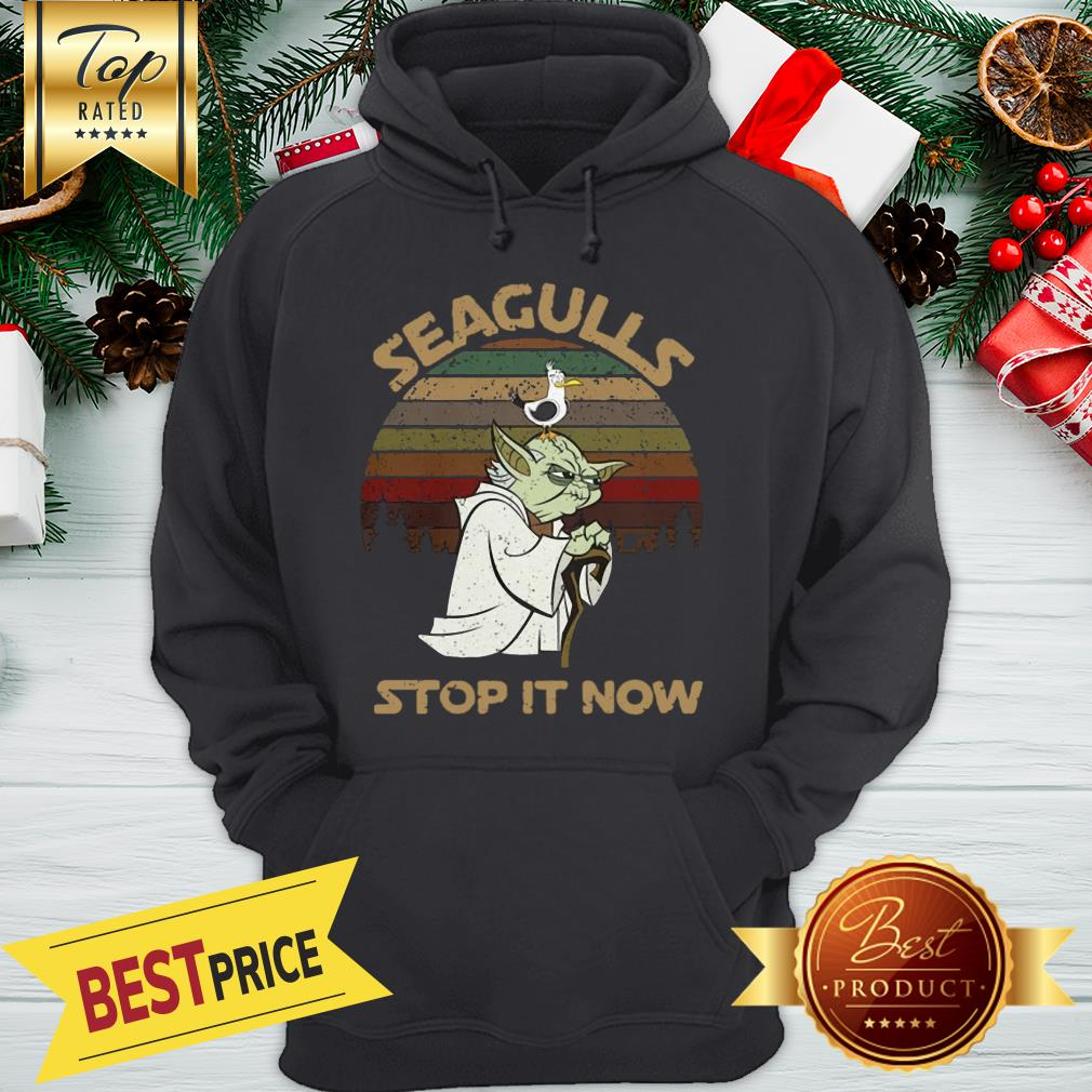 Official Vintage Star Wars Yoda And Seagulls Stop It Now Hoodie