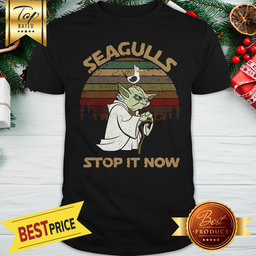 Official Vintage Star Wars Yoda And Seagulls Stop It Now Shirt