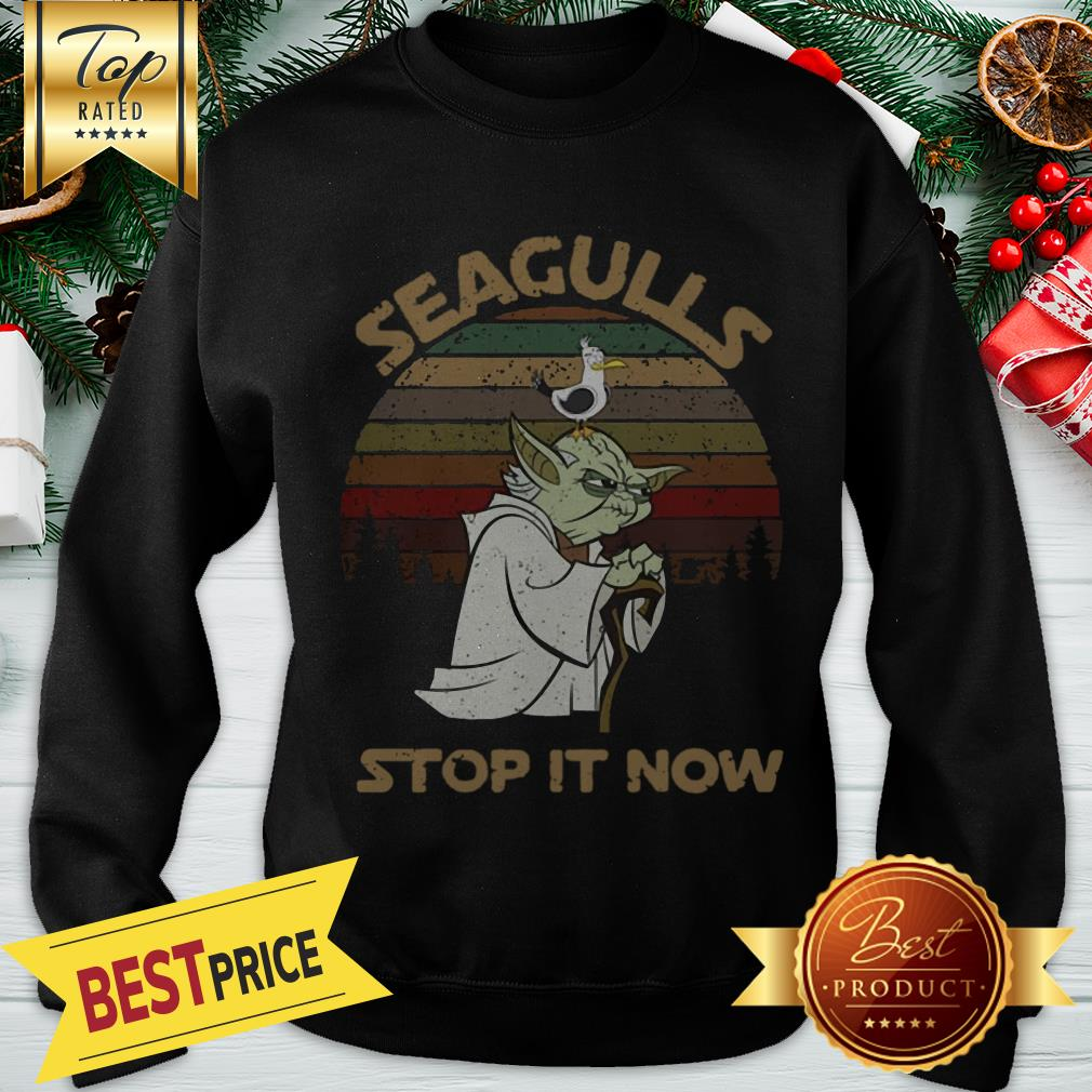 Official Vintage Star Wars Yoda And Seagulls Stop It Now Sweatshirt