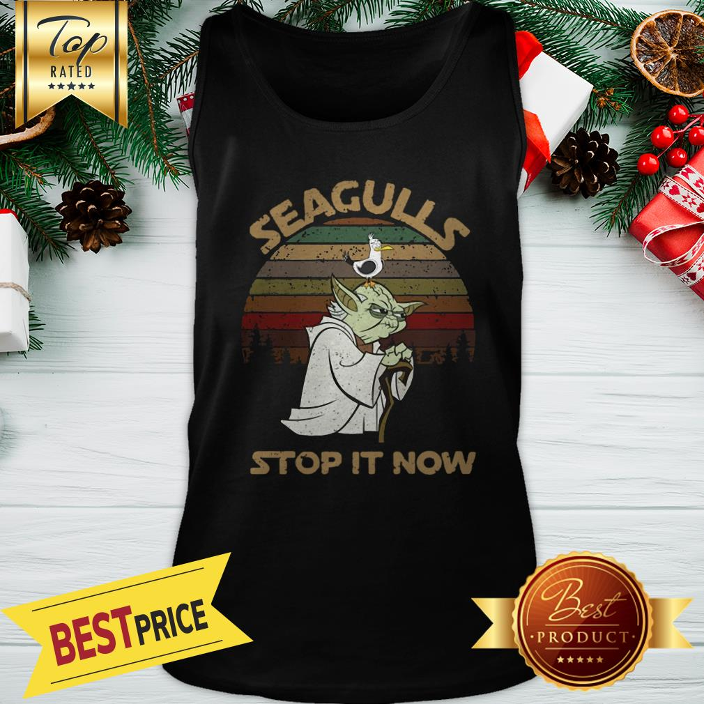 Official Vintage Star Wars Yoda And Seagulls Stop It Now Tank Top