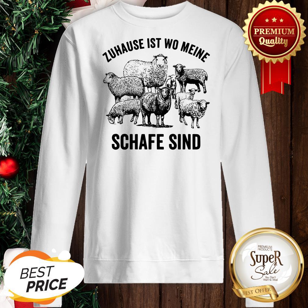 Official Zuhause Ist Wo Meine Schafe Sind Sweatshirt