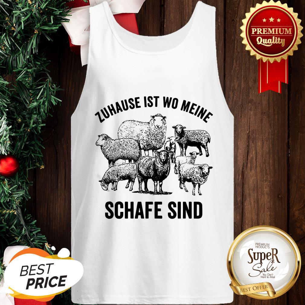 Official Zuhause Ist Wo Meine Schafe Sind Tank Top