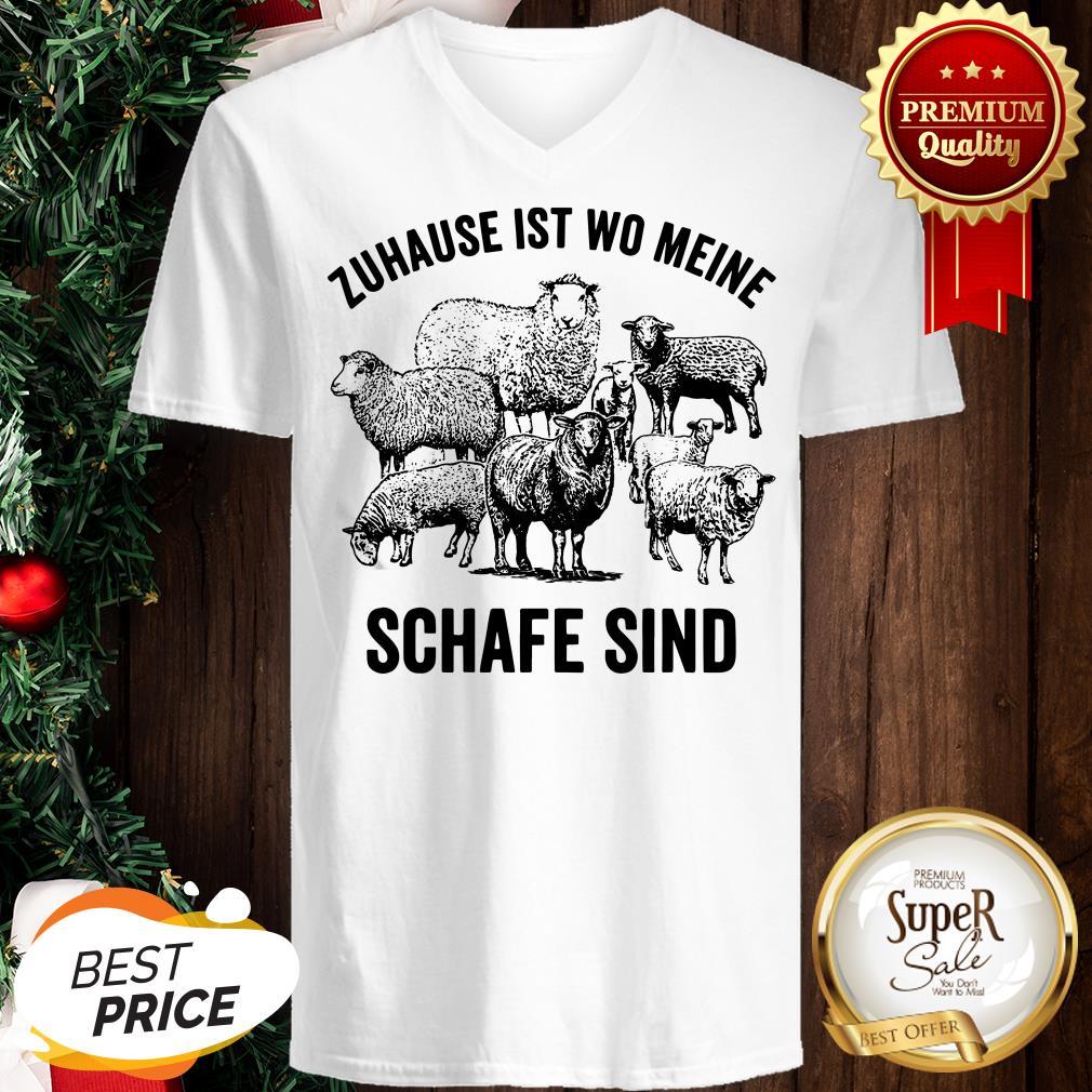Official Zuhause Ist Wo Meine Schafe Sind V-neck