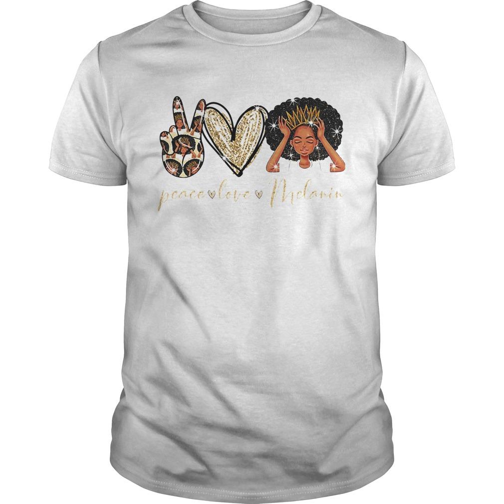 Peace love melanin heart  Unisex