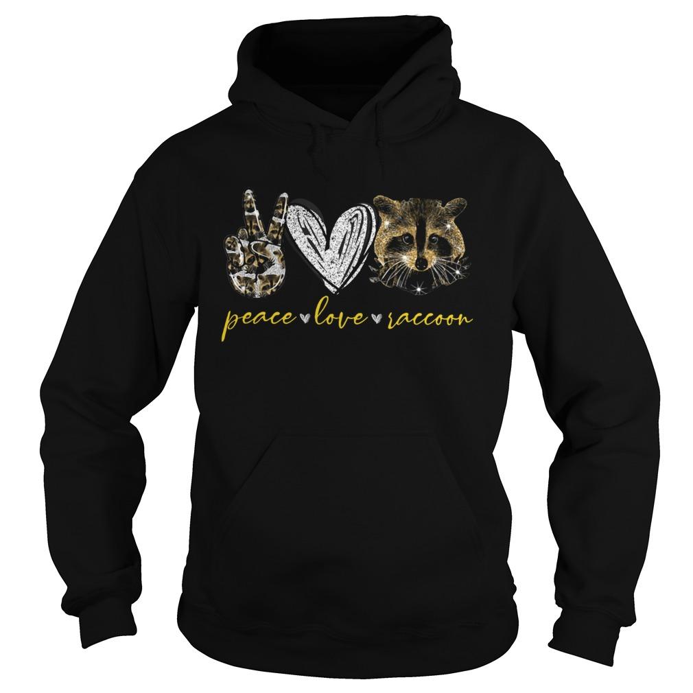 Peace Love Raccoon  Hoodie