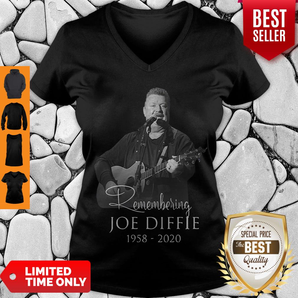 Perfect Remembering Joe Diffie 1958 – 2020 Signature V-neck