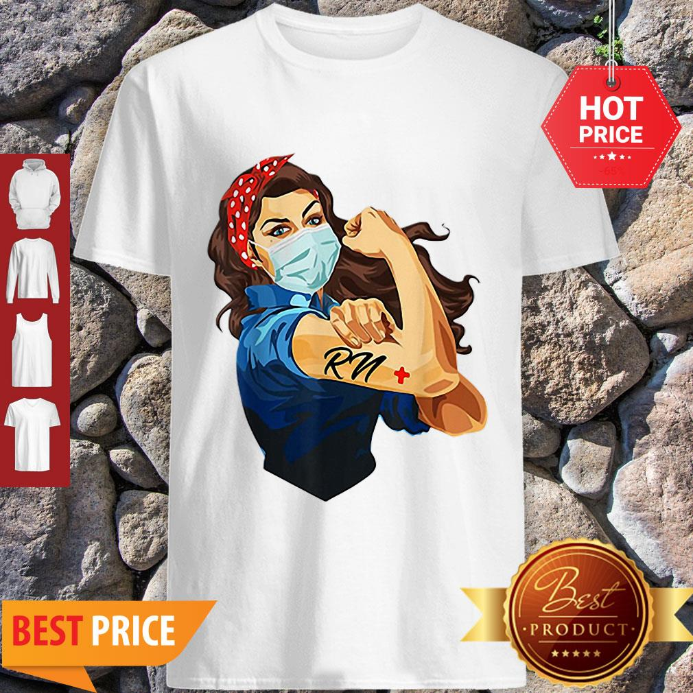 Perfect Strong Woman Tattoos RN Registered Nurse Shirt