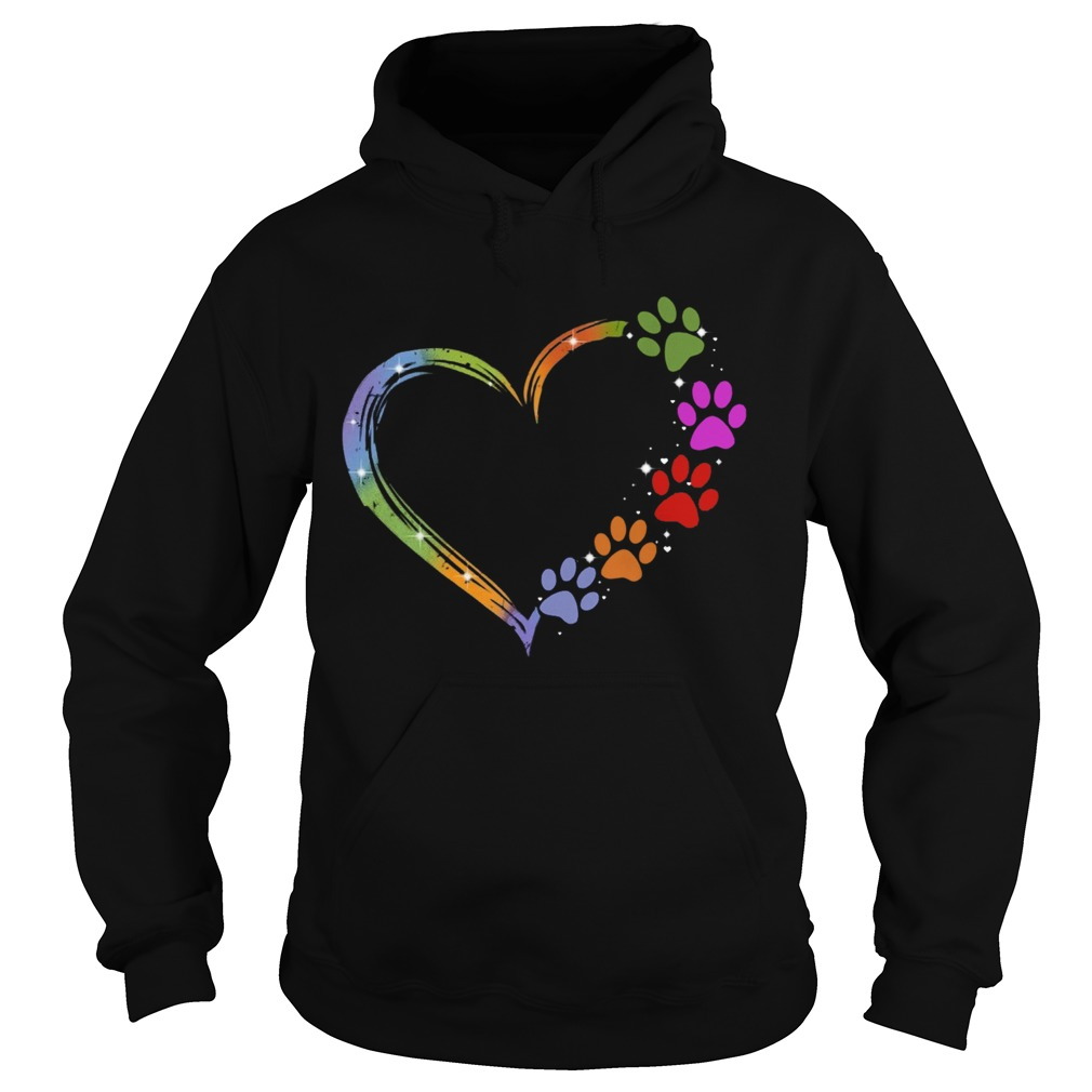 Pisces Dog Paw Color  Hoodie