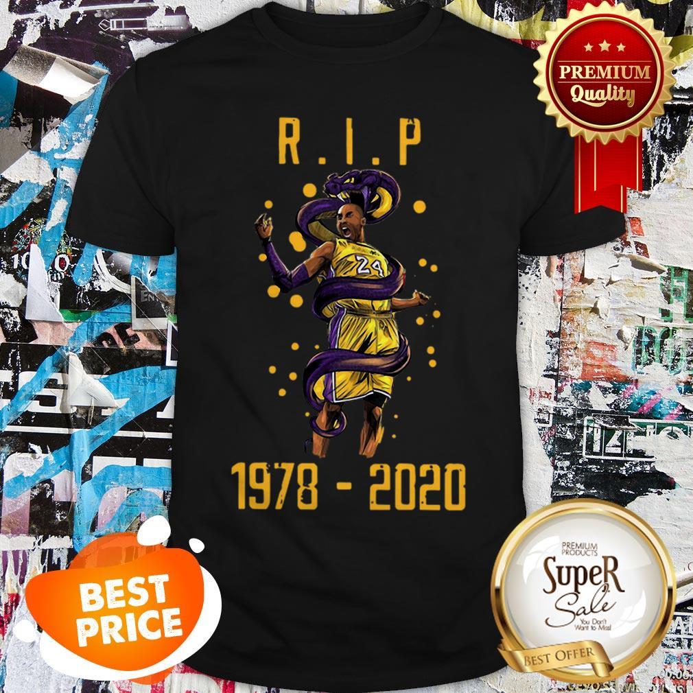 R.I.P Kobe Bryant 1978 2020 Los Angeles Lakers Black Mamba Out Shirt
