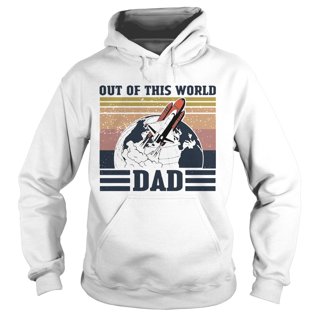 Retro Navy Nasa Out Of This World Dad Vintage  Hoodie