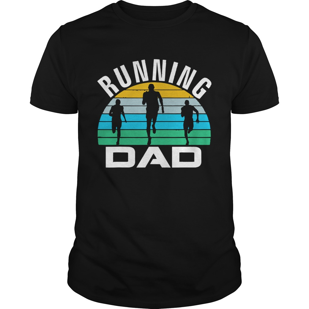 Retro Running Dad Funny Runner Run Fathers Day Gift  Unisex
