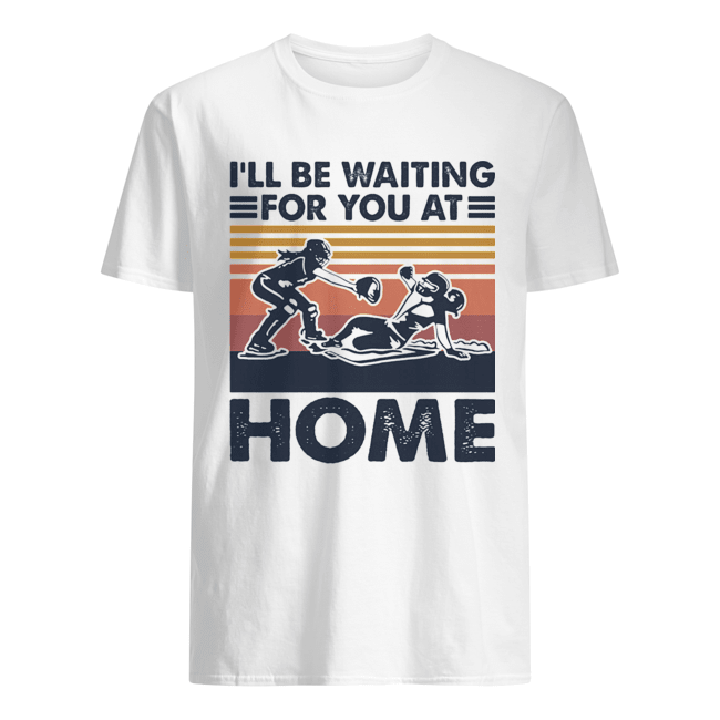 Rugby I'll be waiting for you at home vintage  Classic Men's T-shirt
