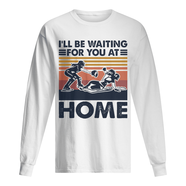 Rugby I'll be waiting for you at home vintage  Long Sleeved T-shirt