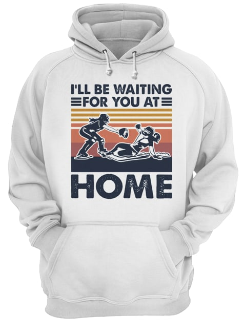 Rugby I'll be waiting for you at home vintage  Unisex Hoodie