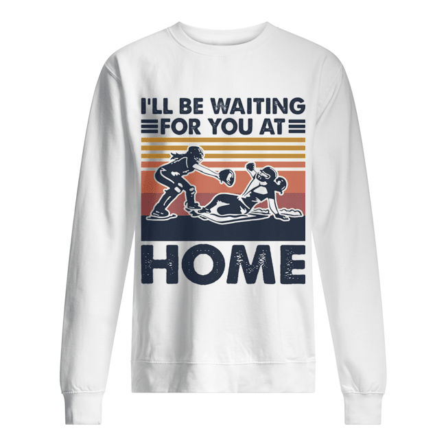 Rugby I'll be waiting for you at home vintage  Unisex Sweatshirt