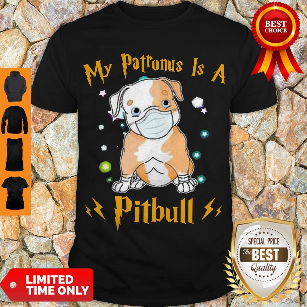 Cute My Patronus Is A Pitbull Mask Coronavirus Shirt