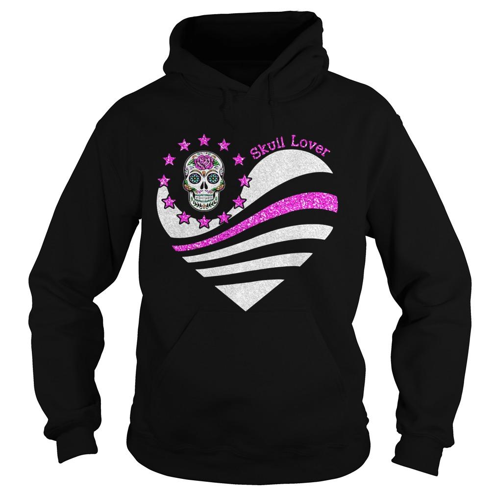 Skull lover heart  Hoodie