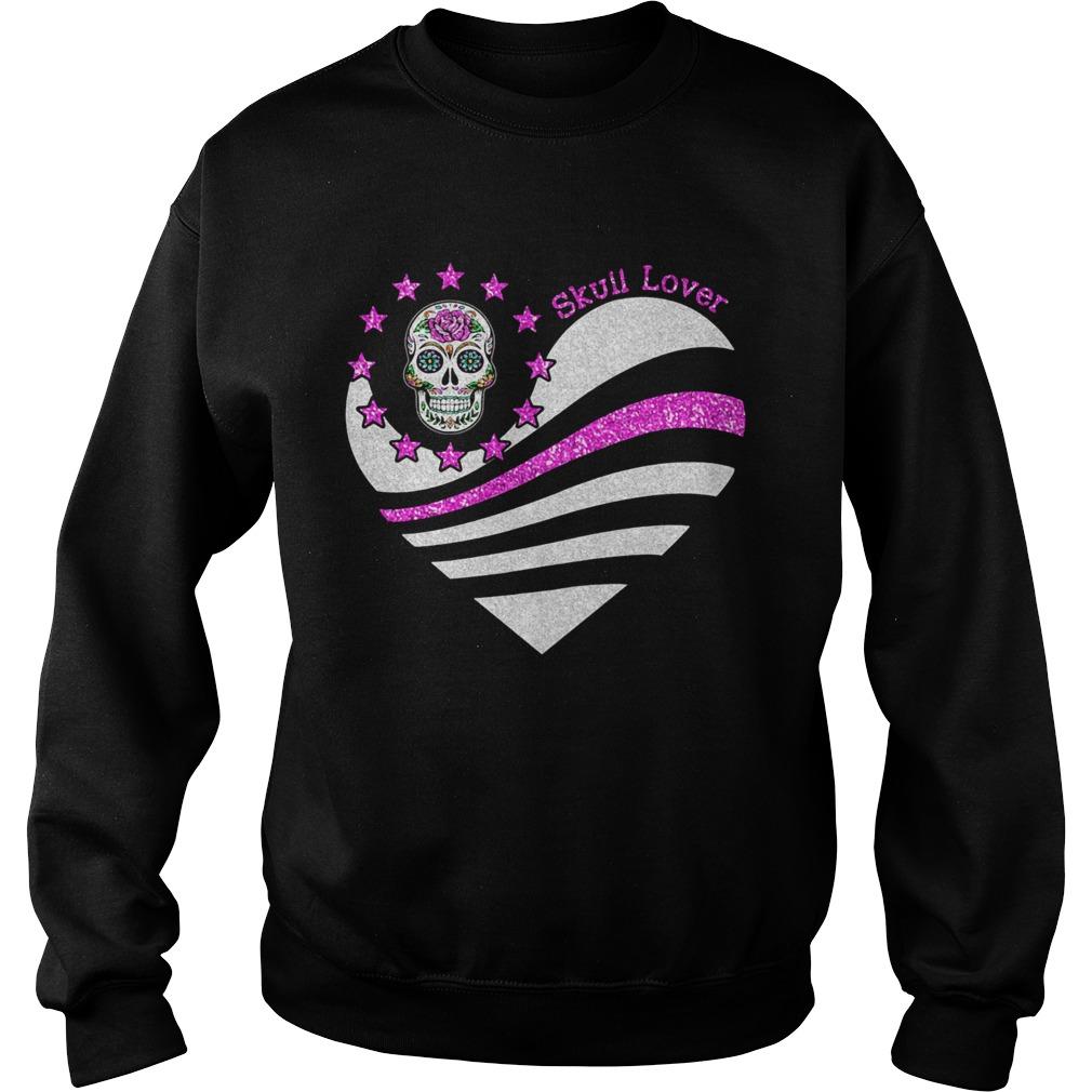 Skull lover heart  Sweatshirt