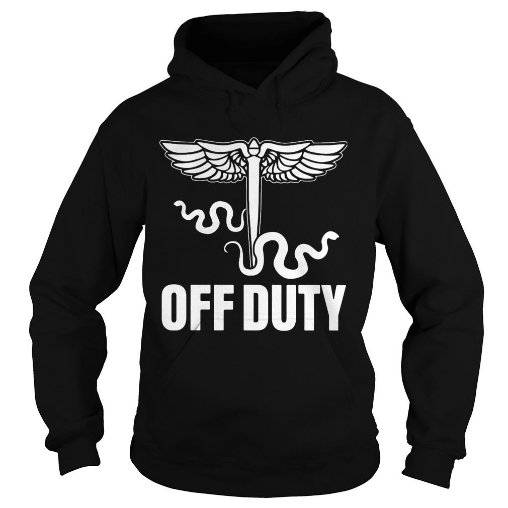 Snake Off duty nurse  Hoodie