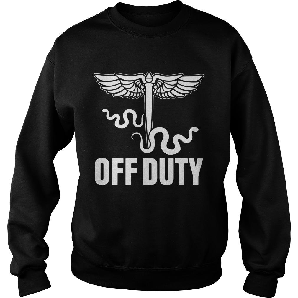 Snake Off duty nurse  Sweatshirt