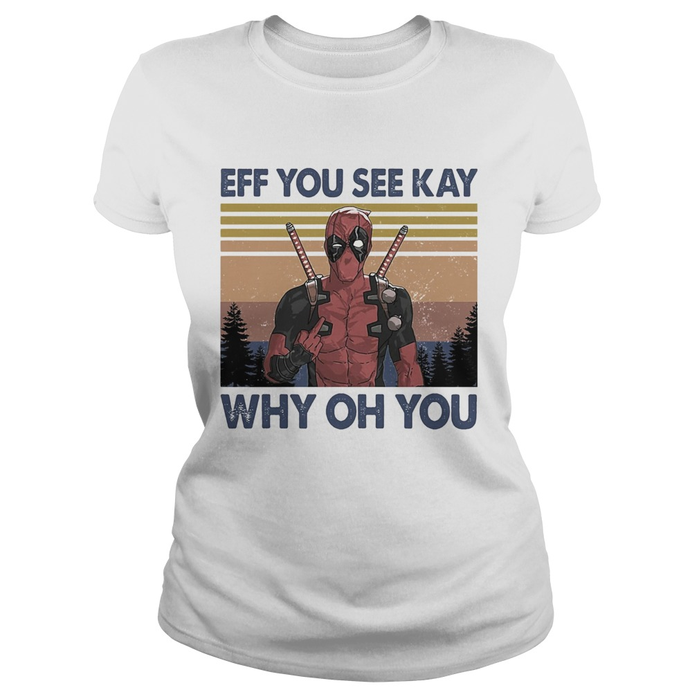 Spiderman eff you see kay why oh you vintage  Classic Ladies